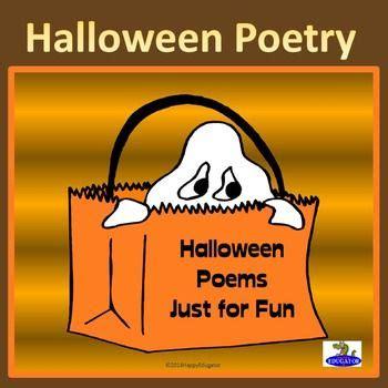 halloween poetry fun poems  reading  writing