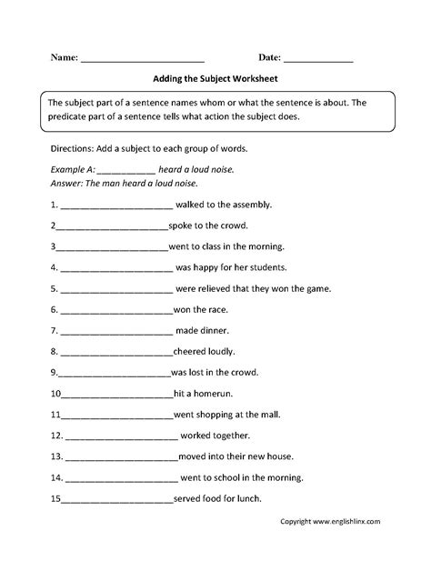 grammar worksheet for middle school grammar best free