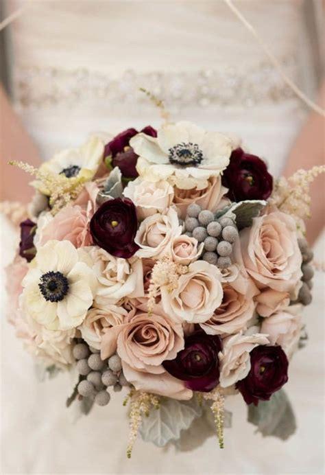 trending  gorgeous burgundy  blush wedding bouquet