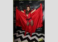 Alessandra Ambrosio Was a Sexy Red Devil on Halloween