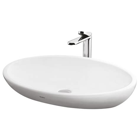 basins plumbing world toto le muse mm oval counter top basin