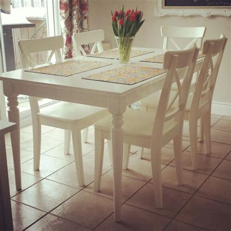 white ikea extension table ingatorp  house
