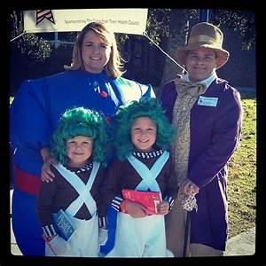 Halloween oompa loompa , willie wonka and Violet ...