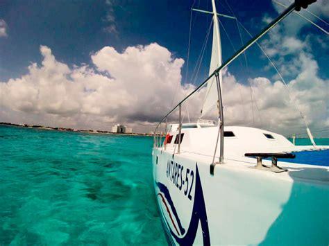 Full Day Isla Mujeres Catamaran Sailing Adventure by Private Charters Cancun Riviera Maya Antares 52