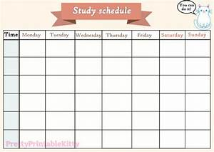 Printable study schedule by denisse | WHI