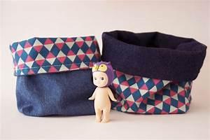 Panier Rangement Bébé Tissu : un panier en tissu r versible diy pinketcetera blog ~ Dailycaller-alerts.com Idées de Décoration