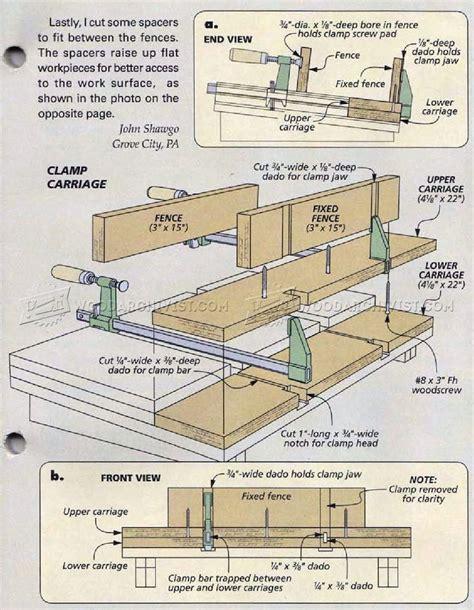 tabletop carving vise plans woodarchivist