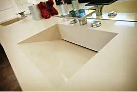 Double Sink Vanity Tops For Bathrooms by Caesarstone Quartz Vanity Top W Double Ramped Sinks Contemporary Bathroom