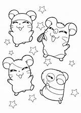 Coloring Hamster Pages Hamsters Happy sketch template