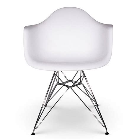 chair eames style chrome eiffel dining chair by ciel