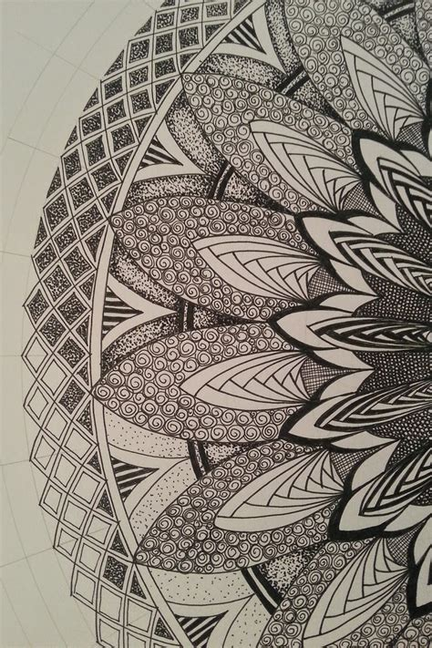 judys zentangle creations  mandala feast