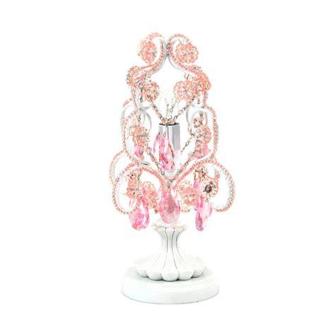 mini pink chandelier tadpoles 10 in pink chandelier mini table l ctlapl104
