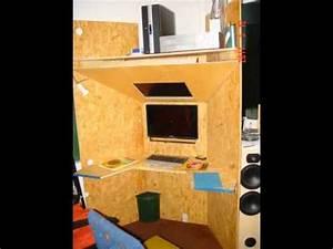 Pc Tisch Holz : eigenbau pc schreib tisch youtube ~ Markanthonyermac.com Haus und Dekorationen