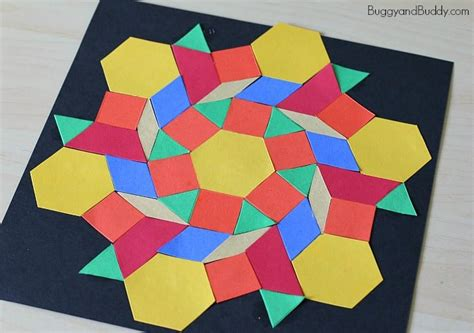 Pattern Block Turkey Craft For Kids  Buggy And Buddy