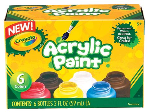 Acrylic Paint Pack 6 Colours At Mighty Ape