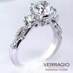 verragio princess cut engagement rings classical three engagement ring design with the stylish twisted band insignia 7055r