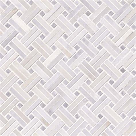 greecian white basketweave pattern 2 polished marble