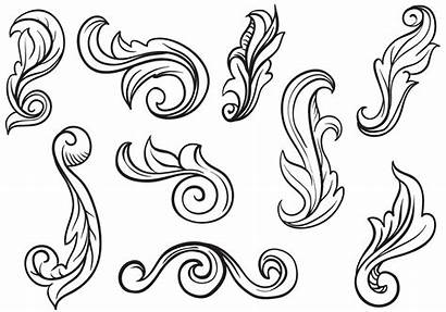 Vectors Tooling Leather Patterns Engraving Scrollwork Scroll
