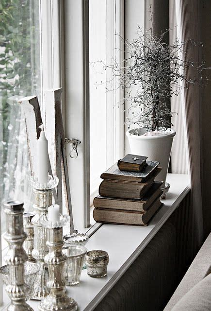 Window Sill Decor by Window Ledge With Vintage Books For The Home In 2019