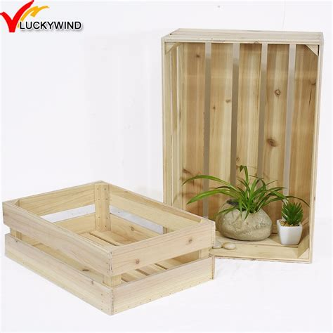 wholesale unfinished handmade beer wooden wine storage crate box buy crate boxwooden crate