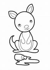 Kangaroo Coloring Pages Craft Preschool Joey Crafts Pouch Letter Classroom Netart Kangaroos Books Giraffe Coloringstar Daycare Discover Infant Zoo Visit sketch template