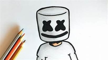 Marshmello Drawing Fortnite Dessin Dessiner Comment Facile