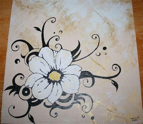 canaper noir et blanc fleur marguerite dessin noir et blanc tattooskid