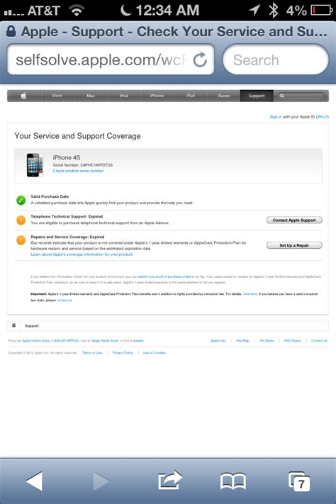 iphone warranty check how to check warranty status of iphone ipad mini ipod Iphon