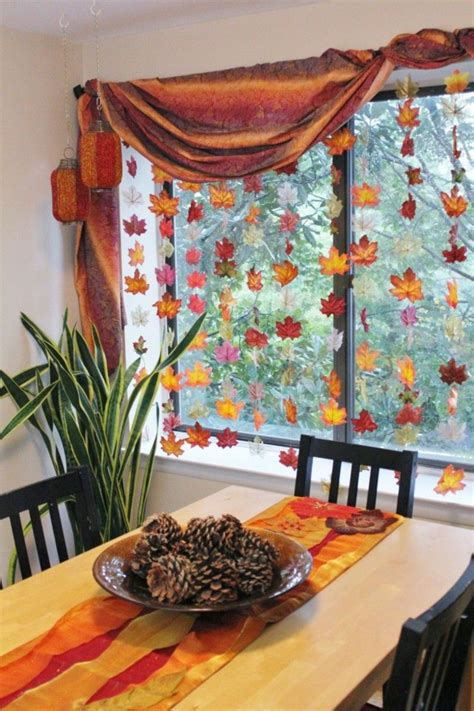 Einfache Herbstdeko Für Fenster by Herbstdeko Zum Basteln Wohn Design