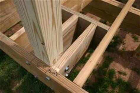 deck joist attachment attach deck railing posts search deck