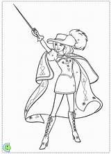 Coloring Barbie Three Musketeers Colouring Musketeer Printable Trending Days sketch template