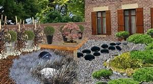 plan de jardin japonais jardin zen
