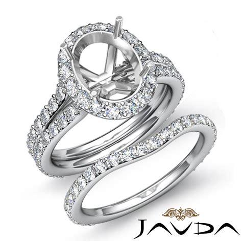 oval halo mount engagement wedding ring bridal platinum 950 1 8 ebay