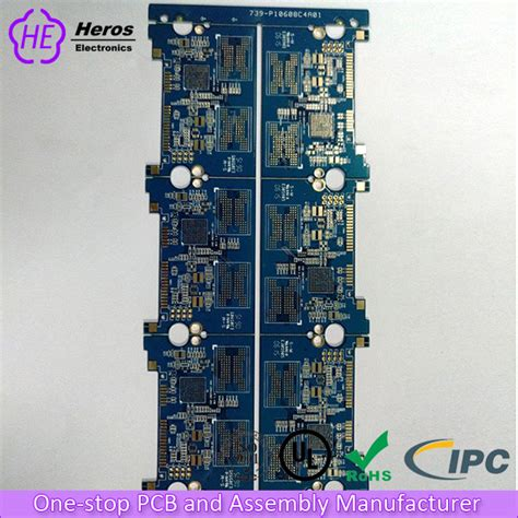 Multi Layer Fast Pcb With Blue Solder Mask For Mainboard