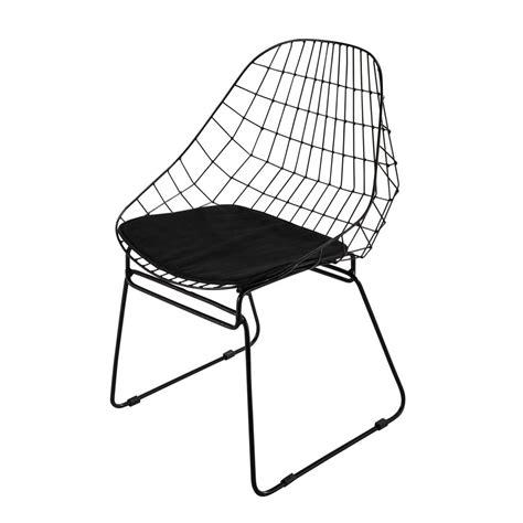 chaise en metal noire orsay maisons du monde