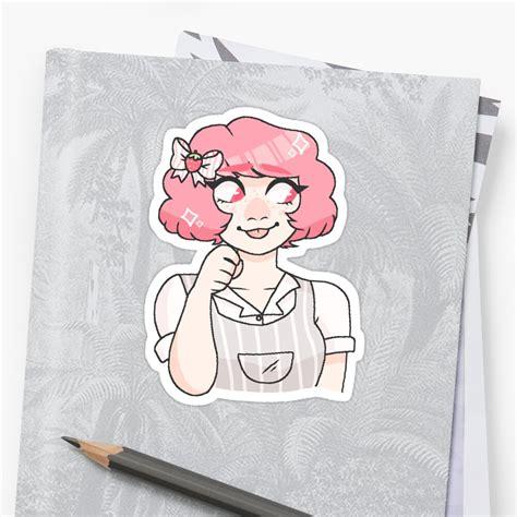 tokyo mew mew ichigo sticker by sunflowerr22 redbubble