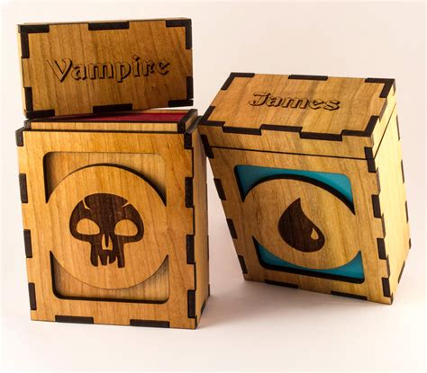 mtg custom wood deck boxes magic the gathering deck boxes images pixelmari
