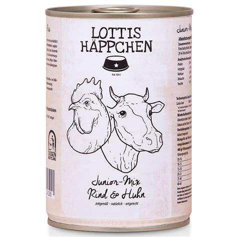 lottis haeppchen junior mix rind huhn hunde nassfutter