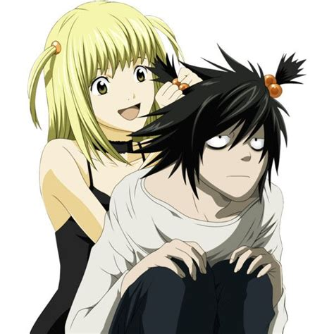 Anime Kiss Death Note Death Note L And Misa Kiss Liked On Polyvore Featuring