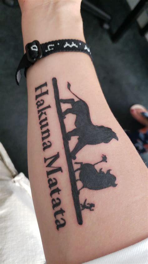 lion king hakuna matata forearm tattoo tattoos
