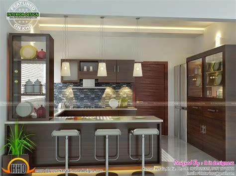 home interior design for kitchen modern and unique dining kitchen interior kerala home