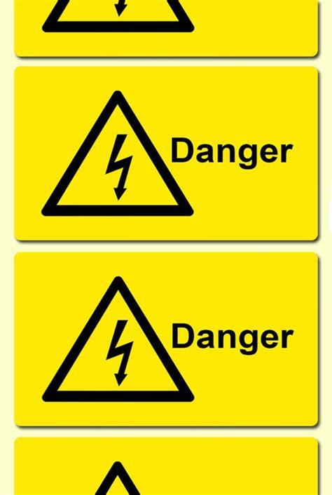 electrical symbol danger electrical safety warning