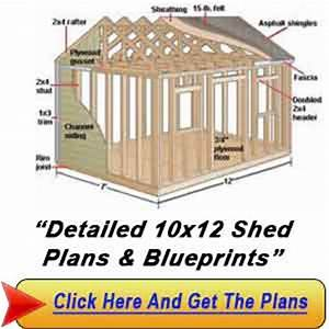 Shed Plans VIP10×12 Sheds : Garden Shed Plans By Lr