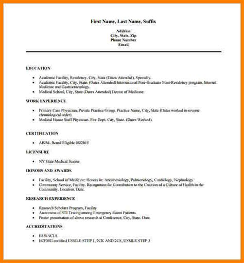Professional Resume Format Exles by 8 Resume Doctor Professional Resume List