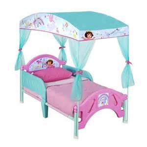 delta children dora the explorer pink toddler canopy bed