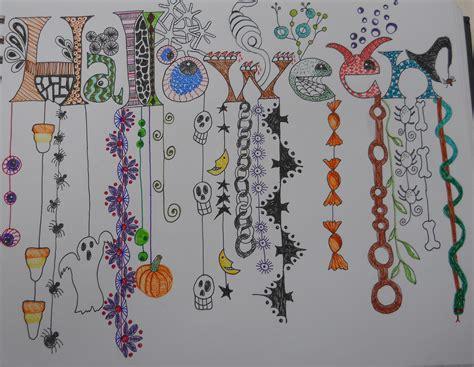 zentangle dangle halloween dangles doodles zentangles doodle patterns letters colorful raven word lettering drawing pattern words teacher did teachers