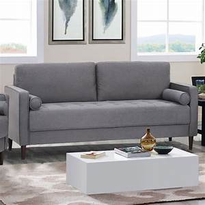 lifestyle solutions jareth sofa in heather gray With heather grey sectional sofa