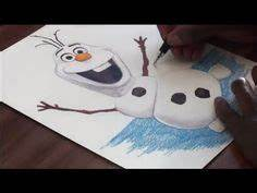 Drawing of Olaf the snowman from frozen by Hannah debondt ...