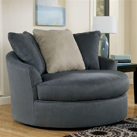 mindy indigo oversized  swivel chair  signature