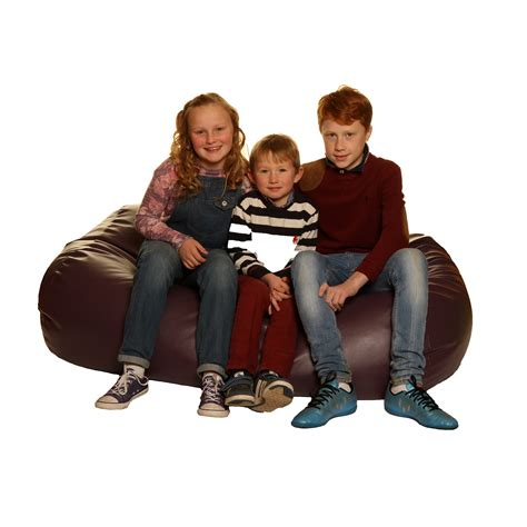 Bean Bag Settee by Child Bean Settee Faux Leather Foams 4 Sports